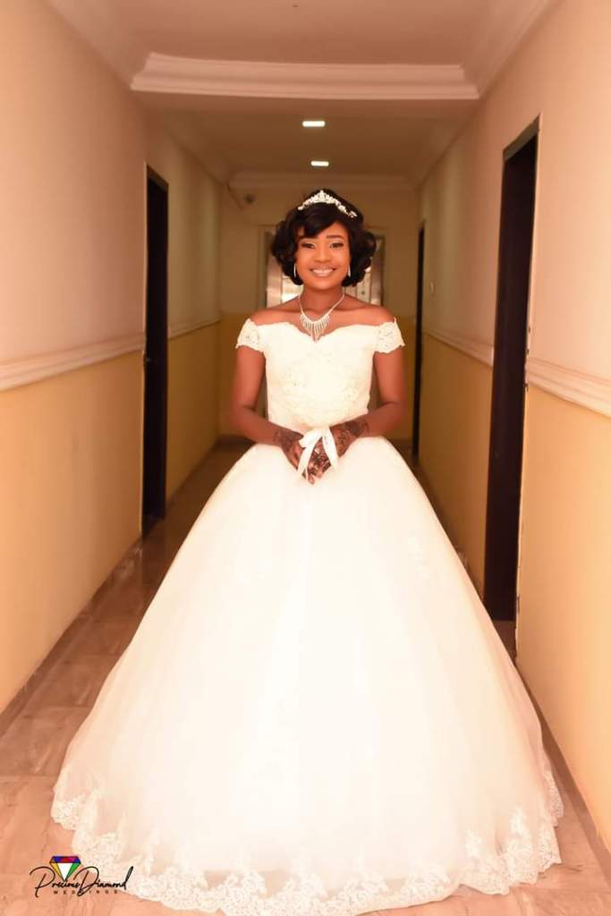 Arewa in her wedding gown