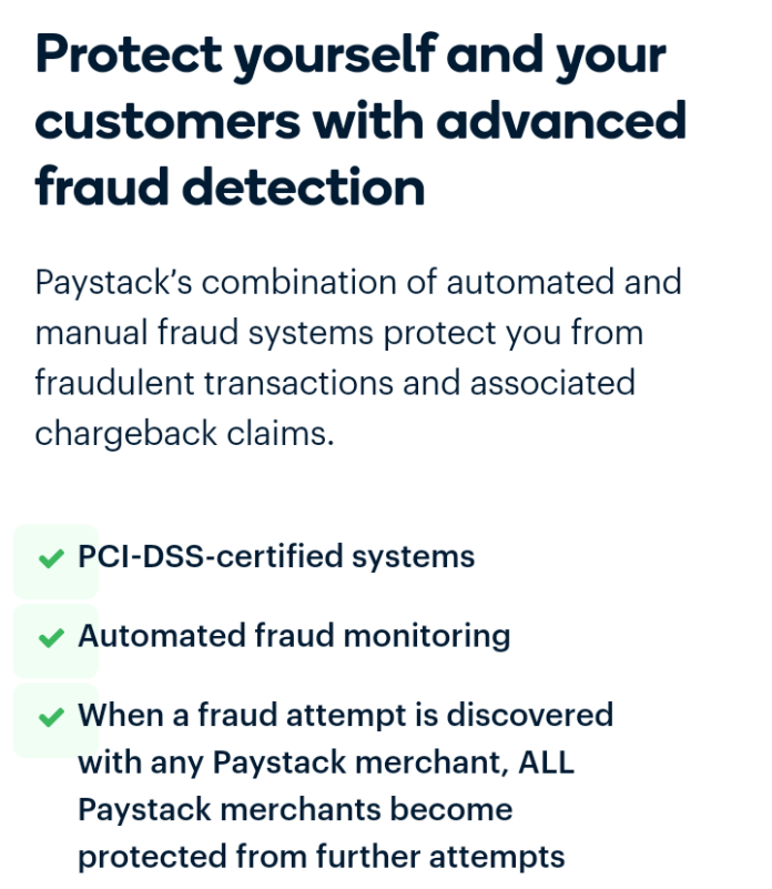 Paystack payment