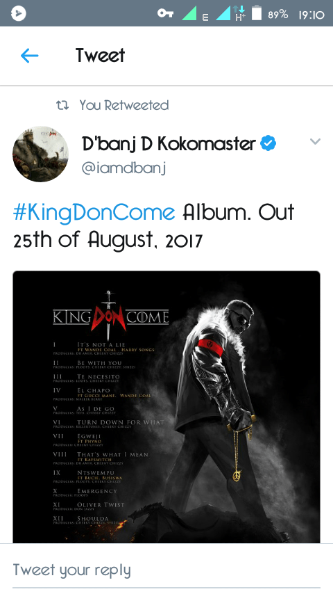 "D'banj's New Album ""KingDonCome"" To Be Released On 25th Of ..."