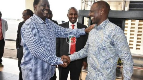 Raila Odinga Comes Out Strongly to Defend William Ruto Slogan.