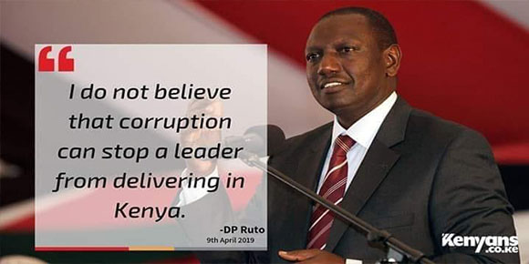 Ruto and corruption