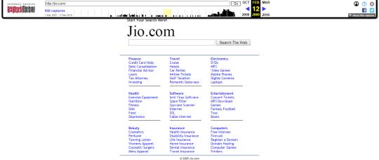 Jio.com in 2009