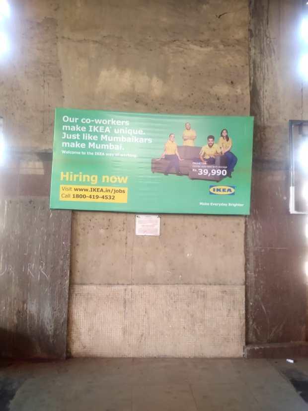 IKEA ad in Kopar Khairane
