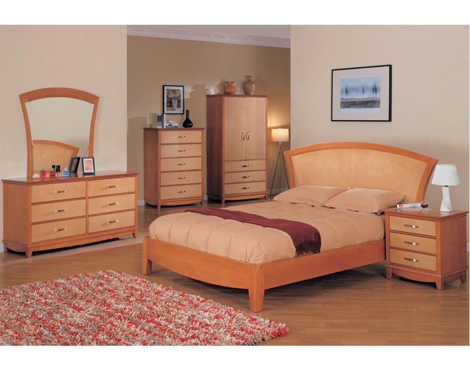 julie bedroom set maple light cherry