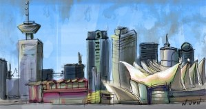 Illustration – Vancouver city skyline (COAH project)