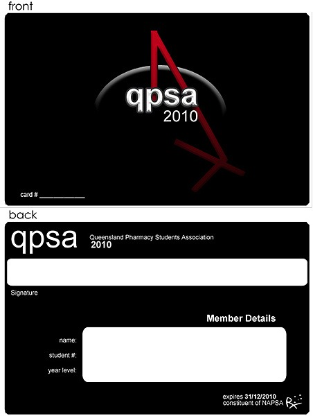 QPSA Membership Card Design