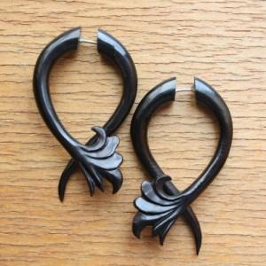 faux ear expander earrings