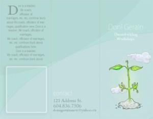 Doni Gerain – Dreambuilding Seminar Brochure Design