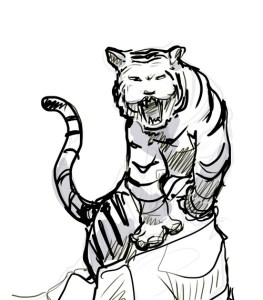 Tattoo Concept Sketches – Tiger