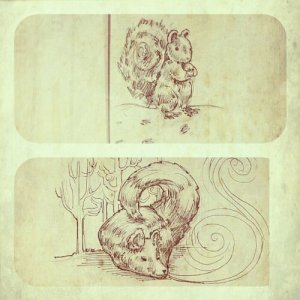 Woodland creature Christmas card illustrations