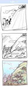 Jack & Jill – pencil thumbnail practise