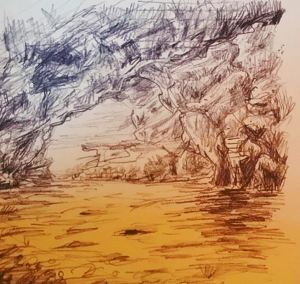 Sea Cave Study Sketches