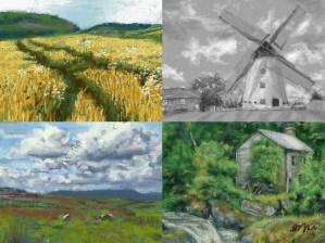 Recent Nintendo 3DS Landscape Paintings: Art Academy