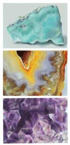 Paintings (3): Geode Trio