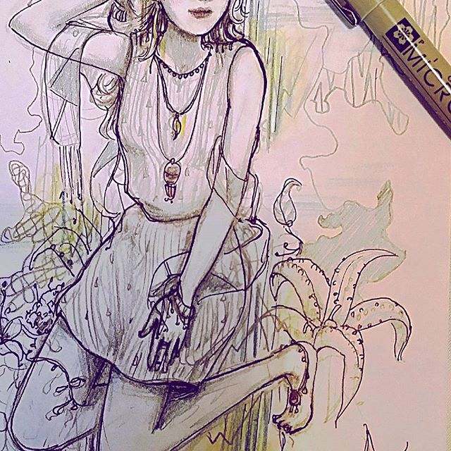 Sketching in Portland now! Hmm this west coast bohemian vibe is infectious... - Instagram feed