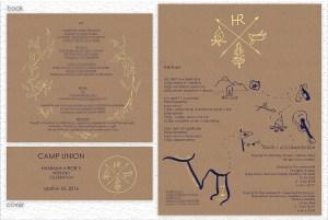Wedding Invitation Design [Camp Themed] – Hannah + Rob
