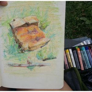 Pastel Drawing: Value Study: Mount Royal Rock