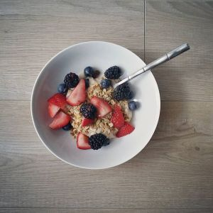 Honey Berry Granola Breakfast Bowl