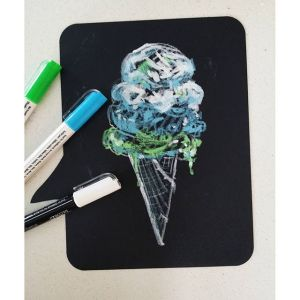 Ice Cream Cone: Chalk Sketch