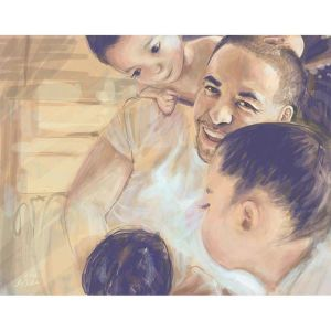Commissioned Portrait Painting: Gamez Family