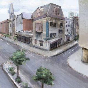 Downtown Montreal Plein Air Painting