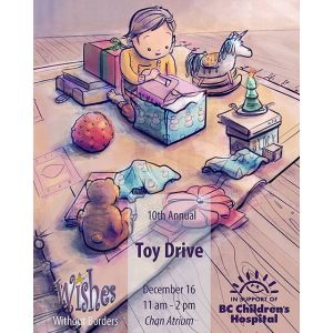 Wishes Without Borders Toy Drive Poster Illustration 2016