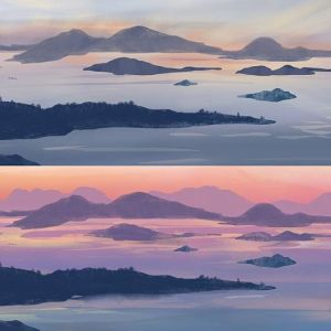 Painting Plans (Continued): San Juan Islands