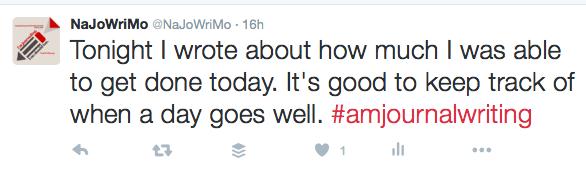 #amjournalwriting hashtag tweet