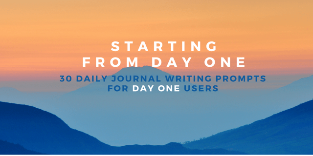 StartingFrom Day one30 Day Journal Writing