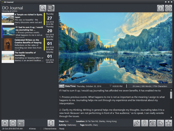 DO Journal - a beautiful journal app for Windows (compatible with Day One)