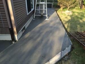 コンクリートの打設完了
