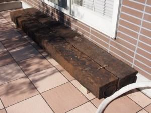 枕木の踏み台