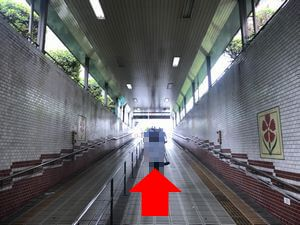 駒川中野の地下道の中の写真