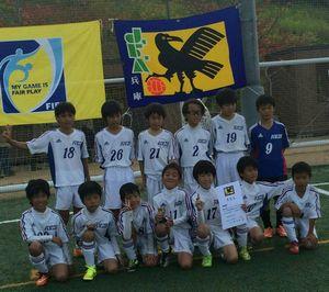 サッカーチームの集合写真