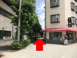 田辺駅から中橋整骨院へのルートの図7