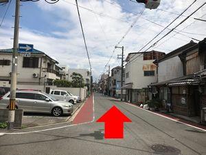 田辺駅から中橋整骨院へのルートの図14