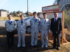 左から 藤田課長、田中部長、菊池君、中塚主任、中山社長