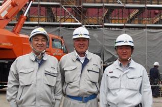 左より、中山社長、木下さん、岩井さん(泰進建設)