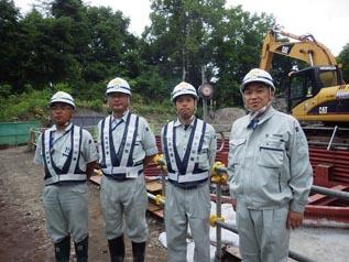 左から高橋さん、松田係長、中塚主任、中山社長