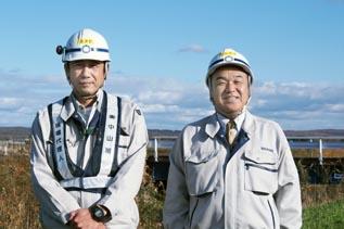 左より政田次長、中山社長