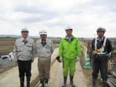 左から中山社長、志田課長、後藤さん(遠藤組) 小田桐主任