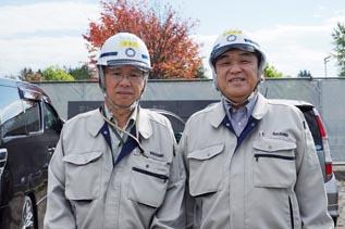 左より槇田工事次長、中山社長