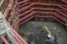 RC橋脚工。ここから更に4m掘削していきます