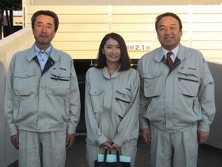 社長現場訪問に初同行した三浦さんと
