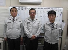 左から中山社長、山口さん、山田さん
