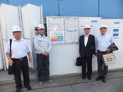 左より作田支店長、鈴木係長、山口部長、中山社長