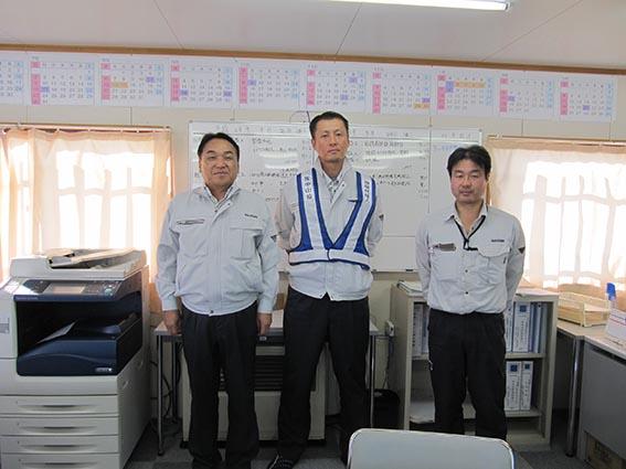左から中山社長、今野係長、川嶋係長
