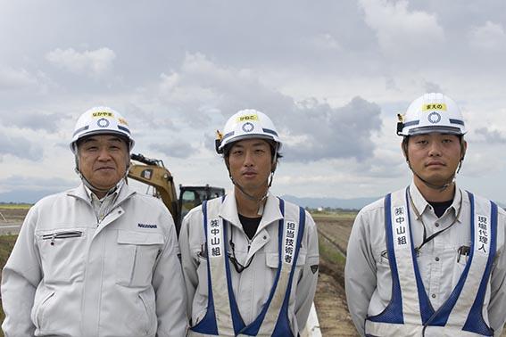 左より中山社長、金子さん、前野さん