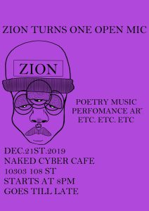 ZION turns 1: Open Mic and Year End show @ Naked Cyber Cafe