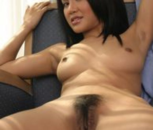 Pretty Asian Pussy Babe Naked In Chair